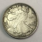 "1942	United States ½ Dollar ""Walking Liberty Half Dollar"" Copy Coin No Stamp"