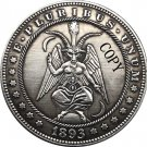Hobo Nickel 1893-S USA Morgan Dollar COIN COPY Type 160 No Stamp