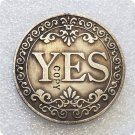 Floral YES NO Letter Ornaments Collection Arts Gifts Souvenir Commemorative Coin No Stamp