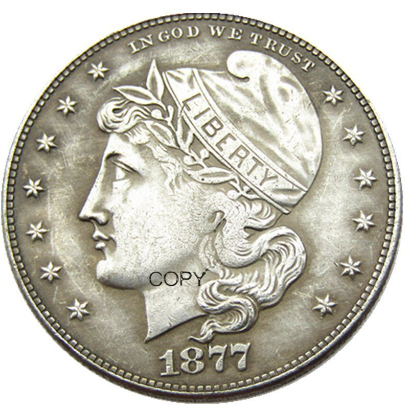 USA 1877 Phrygiam Head Half Dollar Patterns Silver Plated Copy Coin No Stamp