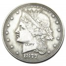 USA 1877 Cornet Head Half Dollar Patterns Silver Plated Copy Coin No Stamp