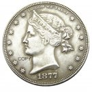 USA 1877 Sailor Head Half Dollar Patterns Silver Plated Copy Coin No Stamp