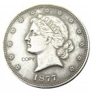 USA 1877 Paguet Head Half Dollar Patterns Silver Plated Copy Coin No Stamp