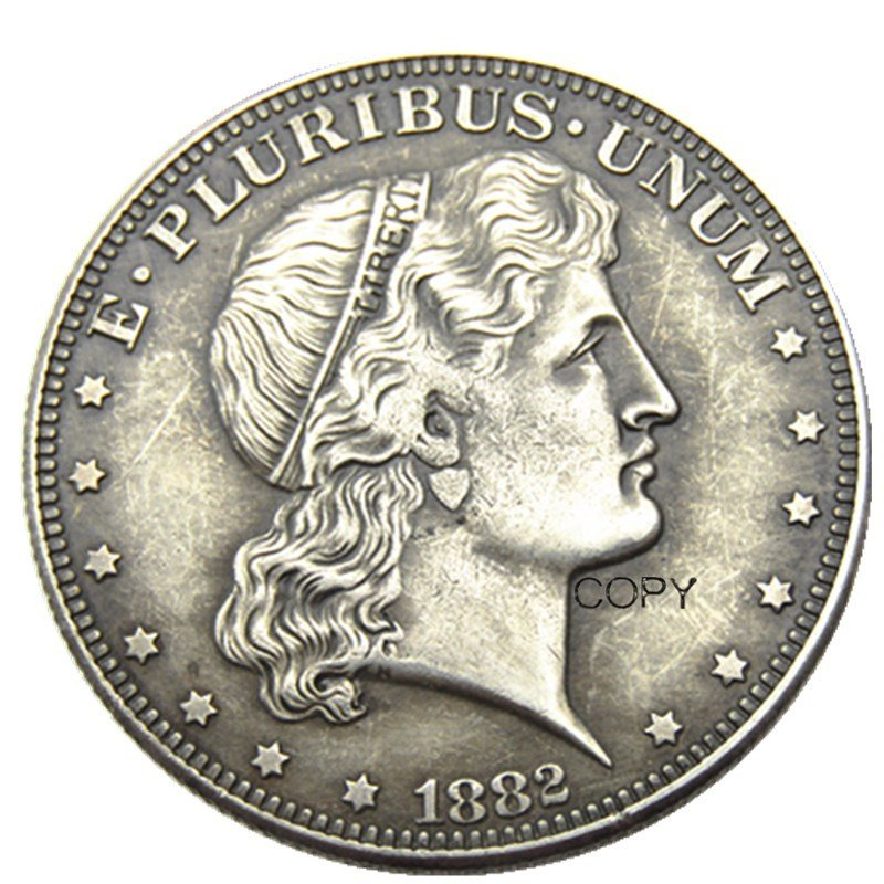 USA 1882 Shield Head Half Dollar Patterns Silve Plated Copy Coin No Stamp