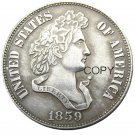 USA 1859 French Head Half Dollar Patterns Silver Plated Copy Coin No Stamp