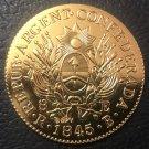 Argentina 1845 La Rioja 8 Escudos Copy Coin