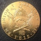 1813 Argentina 8 Escudos Provincias Del Rio De La Plata Gold Copy Coin