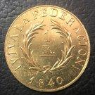 Argentina 1840 Buenos Aires 1 Decimo Real Copper Copy Coin