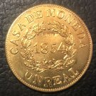 Argentina 1854 Buenos Aires 1 Real Copper Copy Coin