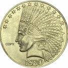 United States Of America 10 Dollars 1930-S Liberty Indian Head Eagle Gold Copy Coin