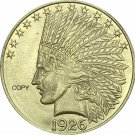 United States Of America 10 Dollars 1926 Liberty Indian Head Eagle Gold Copy Coin