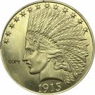 United States Of America 10 Dollars 1915 Liberty Indian Head Eagle Gold Copy Coin