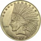 United States Of America 10 Dollars 1916-S Liberty Indian Head Eagle Gold Copy Coin