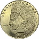 United States Of America 10 Dollars 1913 Liberty Indian Head Eagle Gold Copy Coin