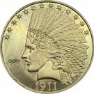 United States Of America 10 Dollars 1911 Liberty Indian Head Eagle Gold Copy Coin