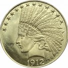 United States Of America 10 Dollars 1912 Liberty Indian Head Eagle Gold Copy Coin