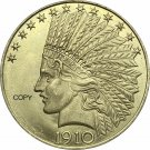 United States Of America 10 Dollars 1910 Liberty Indian Head Eagle Gold Copy Coin