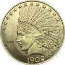 United States Of America 10 Dollars 1909 Liberty Indian Head Eagle Gold Copy Coin