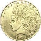 United States Of America 10 Dollars 1907 Liberty Indian Head Eagle Gold Copy Coin