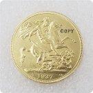 1937 UK Edward VIII Gold Five Pounds Copy Coin
