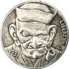 Hobo Nickel 1937-D 3-Legged Buffalo Nickel Coin Copy Type 12