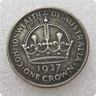 Australian 1937 Crown 5 Shillings Copy Coin