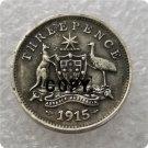 1915 Australian Threepence Copy Coin