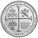2019 US National Park No.49 Texas San Antonio Missions Quarter Dollar Commemorative Copy Coin