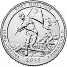 2016 US National Park No.35 South Carolina Fort Moultrie Quarter Dollar Commemorative Copy Coin