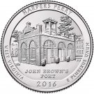 2016 US West Virginia Harpers Ferry National Park Quarter Dollar Commemorative Copy Coin