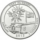 2013 US Maryland Fort McHenry National Park Quarter Dollar Commemorative Copy Coin