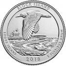 2018 US Rhode Island Block Island National Park Quarter Dollar Commemorative Copy Coin
