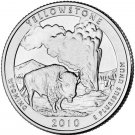 2010 US Wyoming Yellowstone National Park Quarter Dollar Commemorative Copy Coin