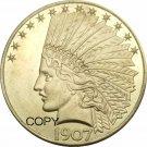 1907 US Ten Dollars Indian Head Eagle Gold Copy Coin