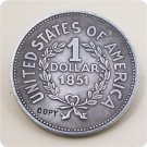 US 1851 Indian Head One Dollar Copy Coins