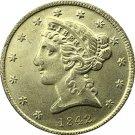 US 1842 Liberty Coronet Head Five Dollar Gold Copy Coins