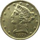 US 1871 Liberty Coronet Head Five Dollar Gold Copy Coins