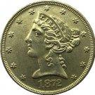 US 1872 Liberty Coronet Head Five Dollar Gold Copy Coins