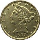 US 1883 Liberty Coronet Head Five Dollar Gold Copy Coins