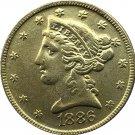 US 1886 Liberty Coronet Head Five Dollar Gold Copy Coins