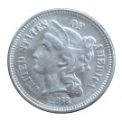 US 1868 Three Cent Nickel 3 Cents Copy Coins