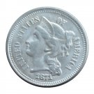 US 1871 Three Cent Nickel 3 Cents Copy Coins