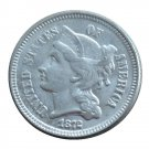 US 1872 Three Cent Nickel 3 Cents Copy Coins
