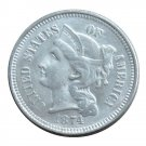 US 1874 Three Cent Nickel 3 Cents Copy Coins