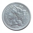 US 1876 Three Cent Nickel 3 Cents Copy Coins