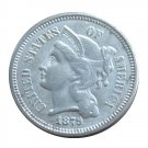 US 1879 Three Cent Nickel 3 Cents Copy Coins