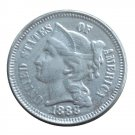 US 1888 Three Cent Nickel 3 Cents Copy Coins