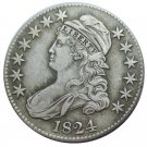 US 1824 Capped Bust 50C Half Dollar Copy Coins