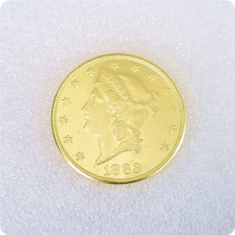 US 1882-CC Liberty Double Eagle $20 Twenty Dollars Copy Coins
