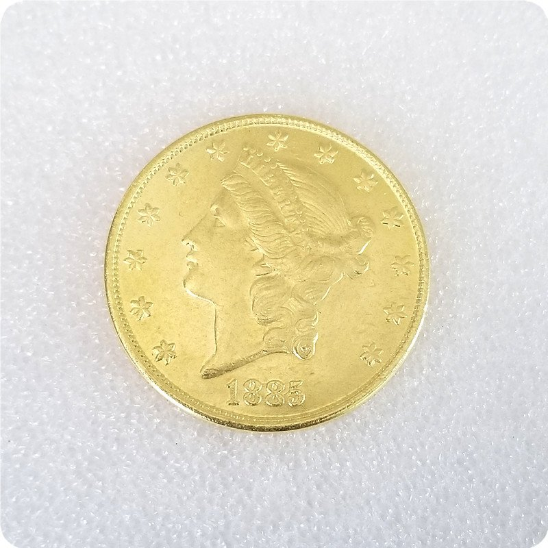 US 1885-CC Liberty Double Eagle $20 Twenty Dollars Copy Coins
